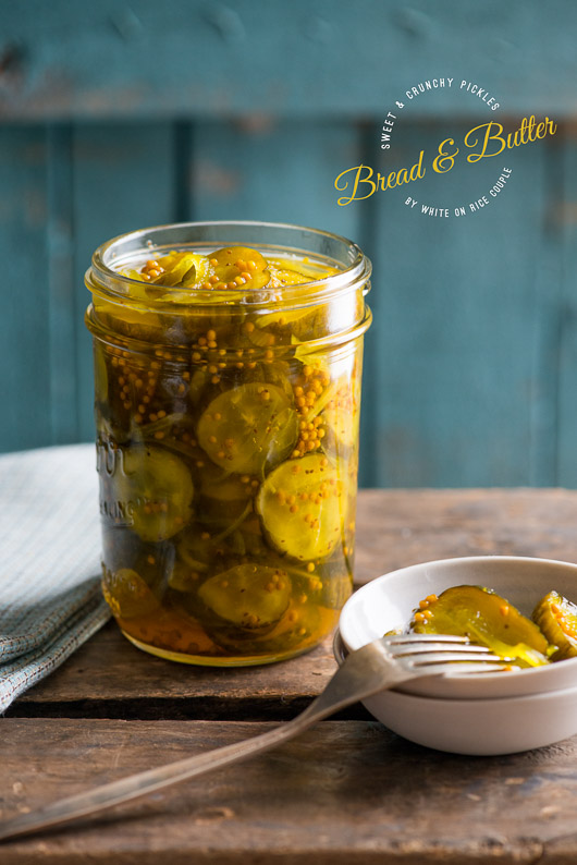 Bread and Butter Pickles Recipe from @whiteonrice