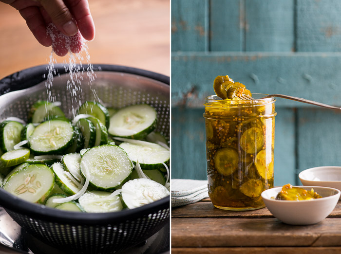 Easy Homemade Bread and Butter Pickles Recipe on @whiteonrice