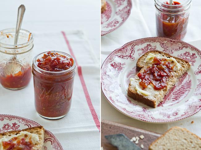 Wheat Sandwich Bread with jam butter