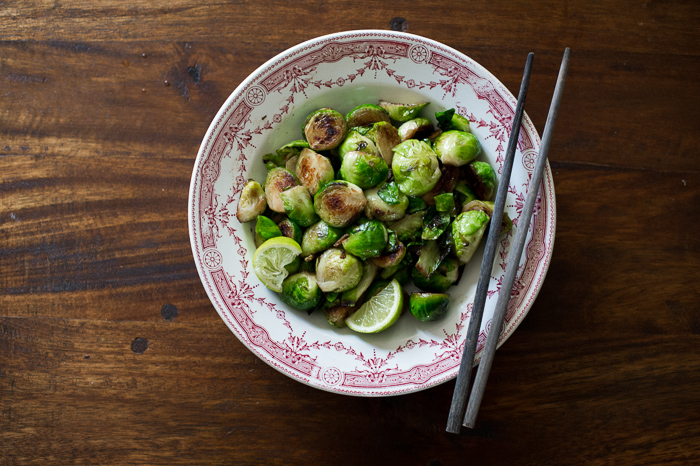 Pan Roasted Brussels Sprouts with Fish Sauce & Lime from WhiteOnRiceCouple.com