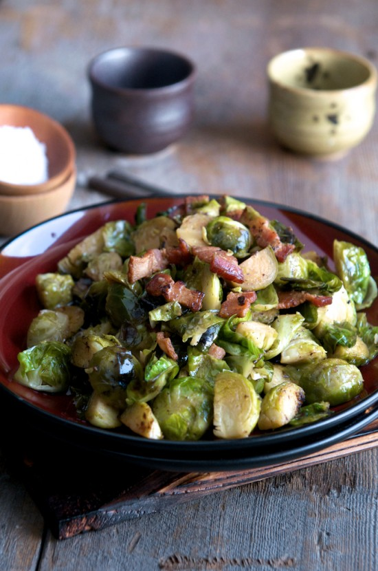 Braised Brussels Sprouts Recipe with Bacon | Best Brussels Sprouts