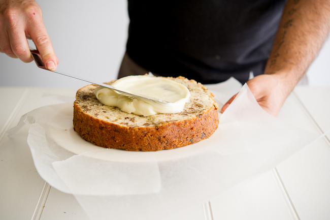 Banana Cake recipe with Butterscotch Frosting