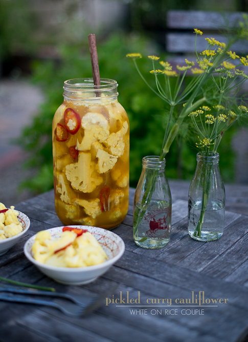Best Recipe for Cauliflower Pickles | WhiteOnRicecouple.com