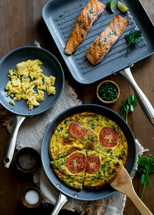 Ceramic Cookware: Cooking healthier with less oil and fat on @whiteonrice