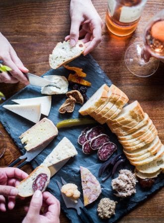 Charcuterie and cheese platter | @whiteonrice