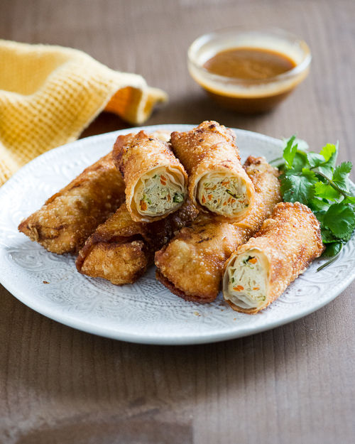 chicken egg rolls with vegetables recipe