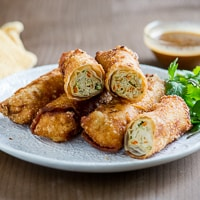 Thumbnail image for Crispy Chicken Vegetable Spring Rolls (Egg Rolls) – A Neighborhood Favorite