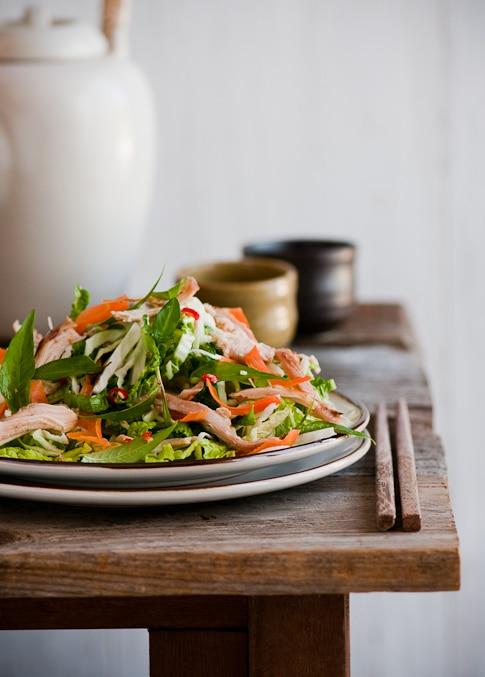 Vietnamese Chicken Salad on a plate