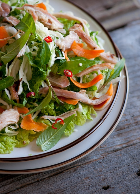 Love Vietnamese Food? You'll love this fresh Vietnamese Chicken Salad Recipe from @whiteonrice