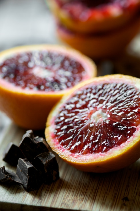 Chocolate Muffins Recipe with Blood Orange | WhiteOnRiceCouple.com