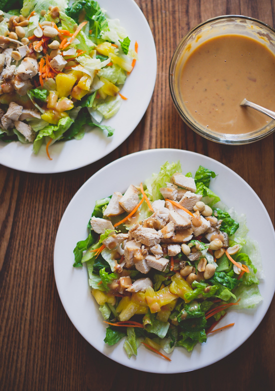 Asian Chopped Chicken Salad on a plate