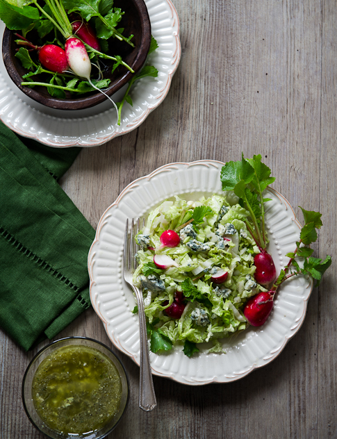 Chopped Salad Recipe with Blue Cheese Dressing