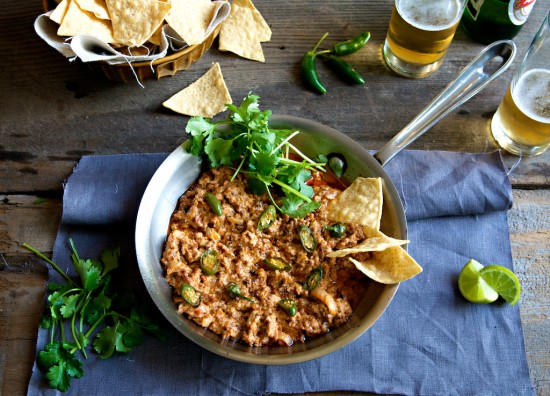 Amazing Hot Chorizo Cheese Dip Recipe that's perfect with a cold beer | @whiteonrice