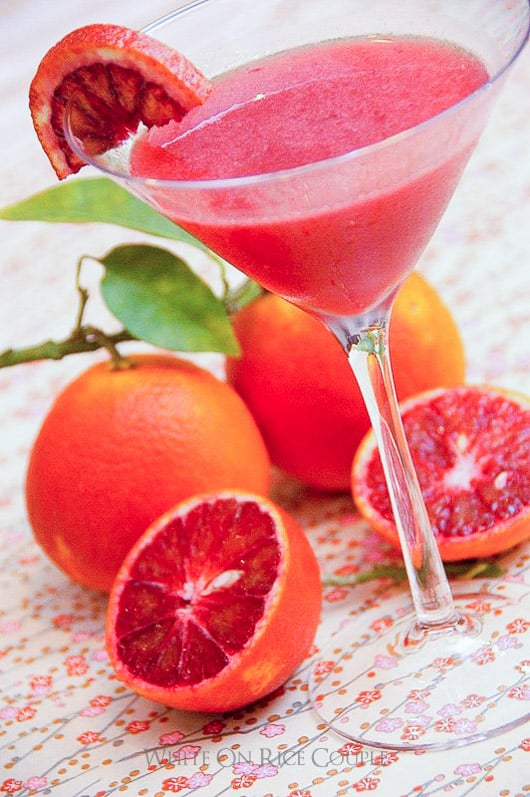 Citrus Limoncello Cocktail Recipe made from blood orange, lemon and other citrus  @whiteonrice