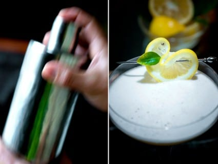 Side Car Fizz Cocktail Recipe that's elegant and refreshing | @whiteonrice