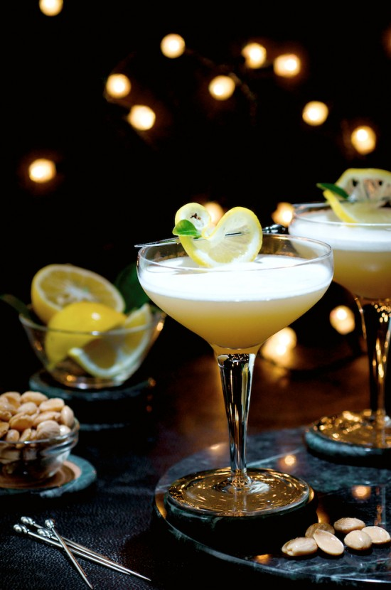 Side Car Fizz Cocktail Recipe that's elegant and refreshing   @whiteonrice