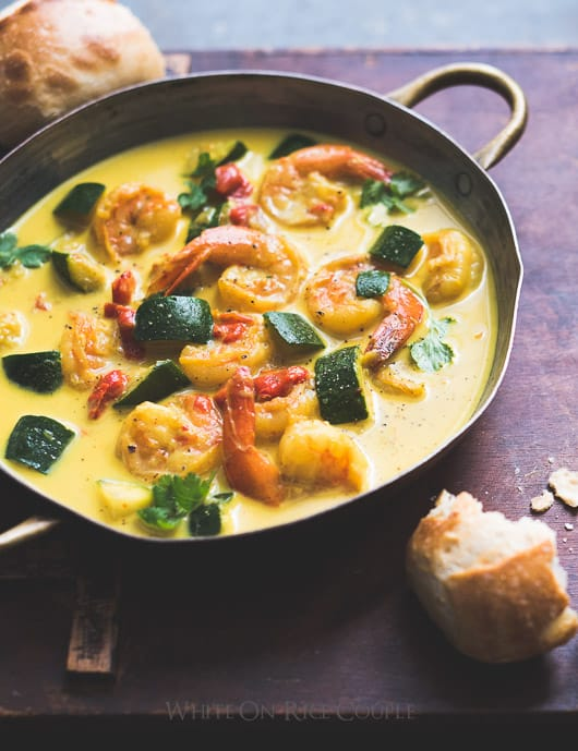 Shrimp & Zucchini Coconut Curry or Make It Your Own – White on Rice ...