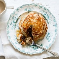 Thumbnail image for Chocolate Cookie Dough Oatmeal Pancakes