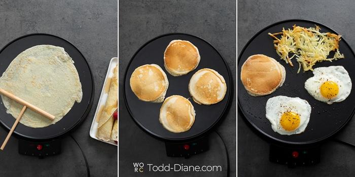 crepe maker machine for breakfast | WhiteOnRiceCouple.com