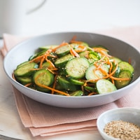 Thumbnail image for Refreshing and Light Sesame Cucumber Carrot Salad