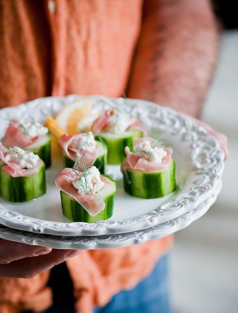 Stuffed Cucumbers Recipe on plate