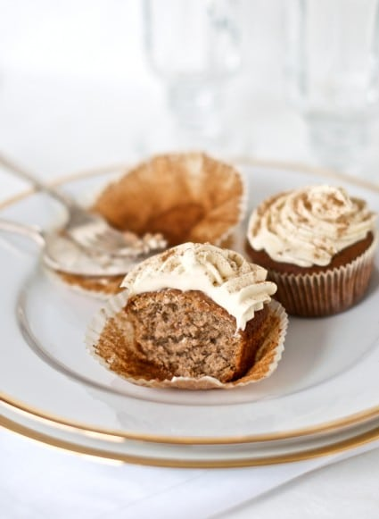 gingerbread cupcake recipe on a plate