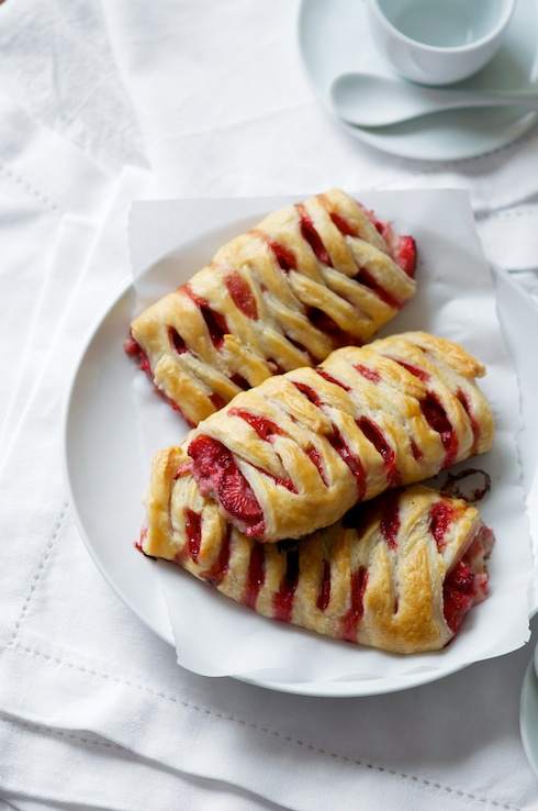 Homemade Strawberry Crossover Puff Pastries – White on Rice Couple