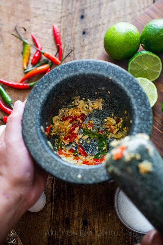 Vietnamese Fish sauce dip for Vietnamese fresh spring rolls | @whiteonrice