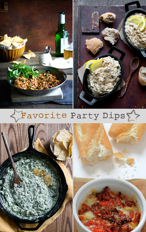 Best Party Dips for Holidays and Game Day Appetizer Dips. These Cheesy Dip Recipes are Awesome! @whiteonrice