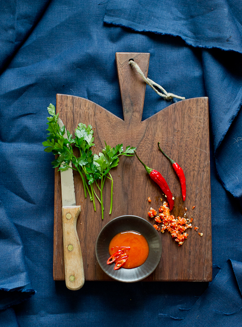 Spicy Garlic Knots Recipe ingredients on board
