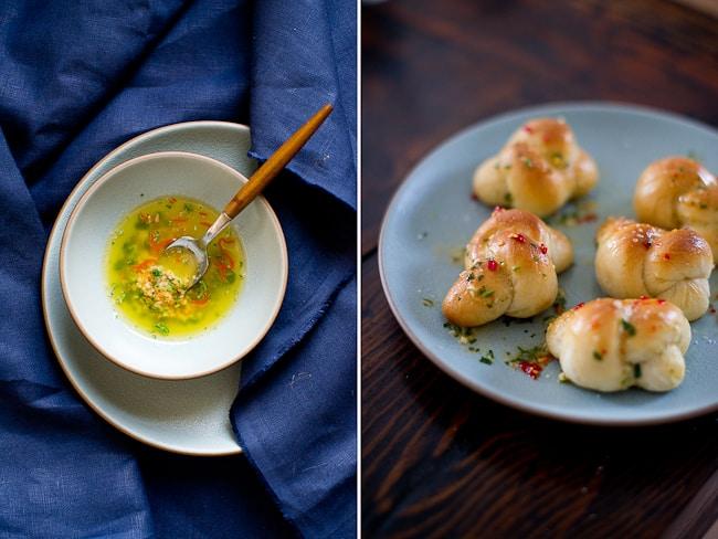 Spicy Garlic Knots Recipe serving