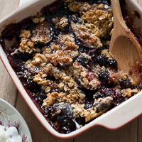 Fig-Blueberry Crisp