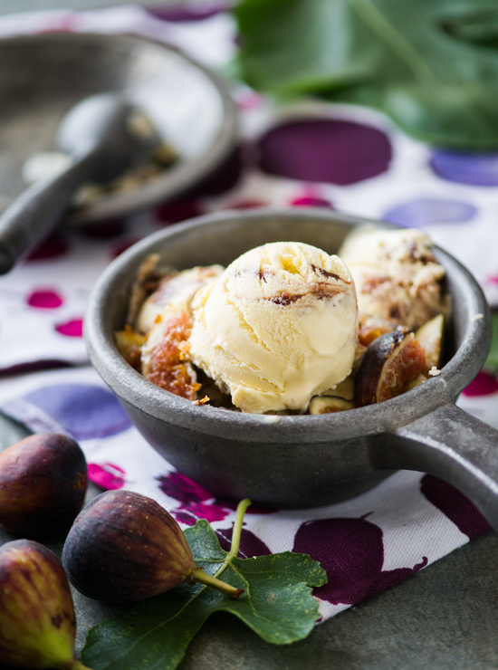 Roasted Fig and Goat Cheese Ice Cream from WhiteOnRiceCouple.com