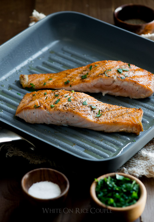 Cook healthy fish with less oil/butter on ceramic cookware on @whiteonrice