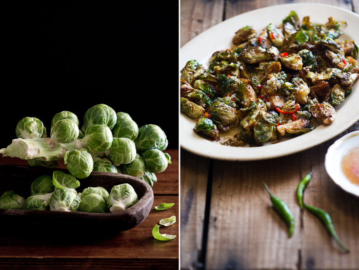 Crispy Fried Brussels Sprouts with Mom's Chili Fish Sauce – White ...