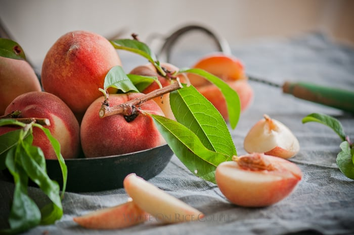 fresh garden peaches