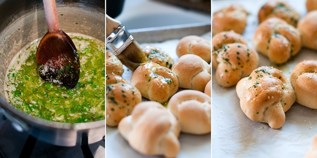 Super Easy and Homemade Garlic Knots Recipe on White ON Rice Couple