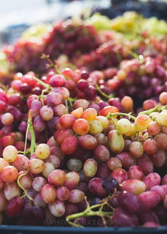 Fresh grapes at the market on @whiteonrice