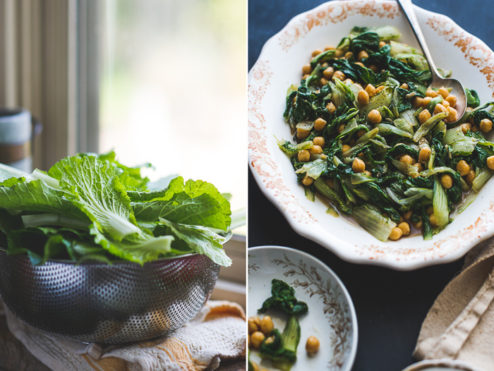 Garlicky Winter Greens and Chickpea Salad step by step photos