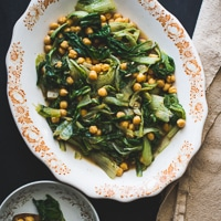Thumbnail image for Garlicky Winter Greens and Chickpea Salad