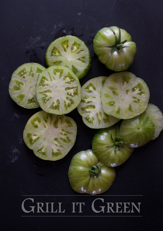 Grilled Green Tomatoes Recipe from WhiteOnRiceCouple.com