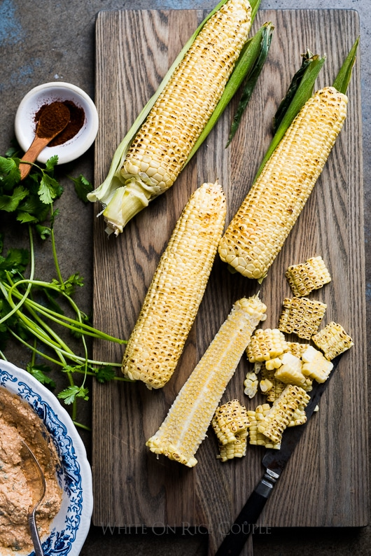 Grilled Mexican Street Corn Salad Elotes Recipe | @whiteonrice