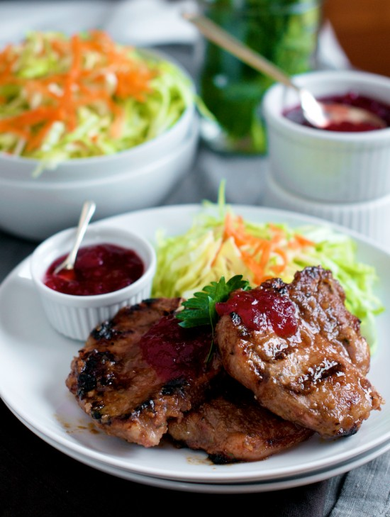 Char grilled pork recipe