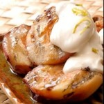 Grilled White Peaches Recipe w/honey balsamic glaze & homemade Crème ...