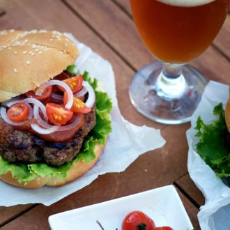 Ultimate umami burger recipe that's so flavorful. The secret ingredient is in the fish sauce marinade @whiteonrice