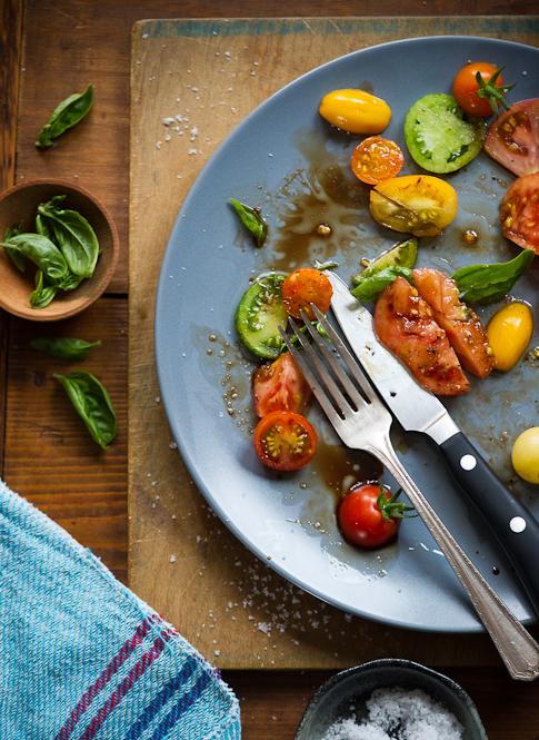 Fresh Heirloom Tomato Salad Recipe from the Garden