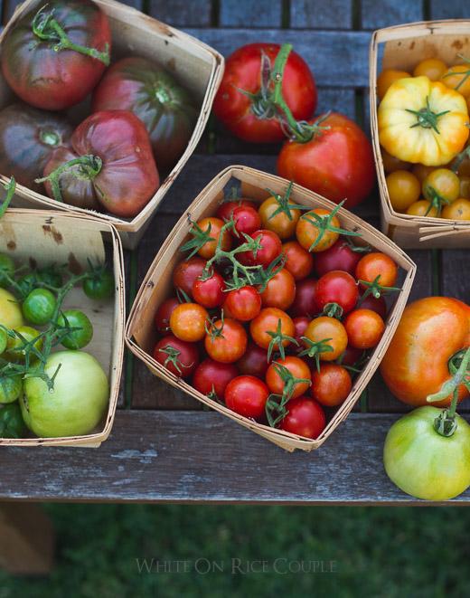 Heirloom Tomato Galette Recipe on WhiteOnRiceCouple.com