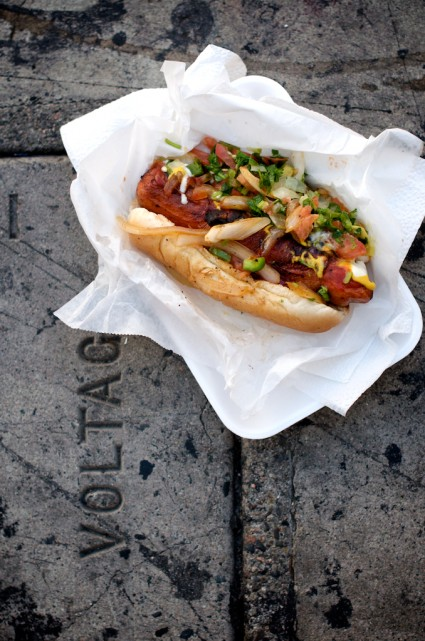 street food hot dogs