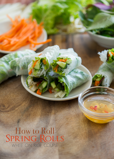 Fresh Spring Rolls Recipe Vietnamese Spring Rolls or Rice Paper Rolls