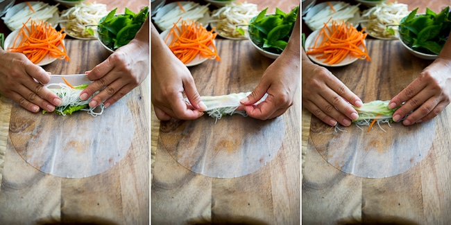 Vietnamese Fresh Spring Rolls Recipe or Summer Rolls, Rice Paper Rolls @whiteonrice
